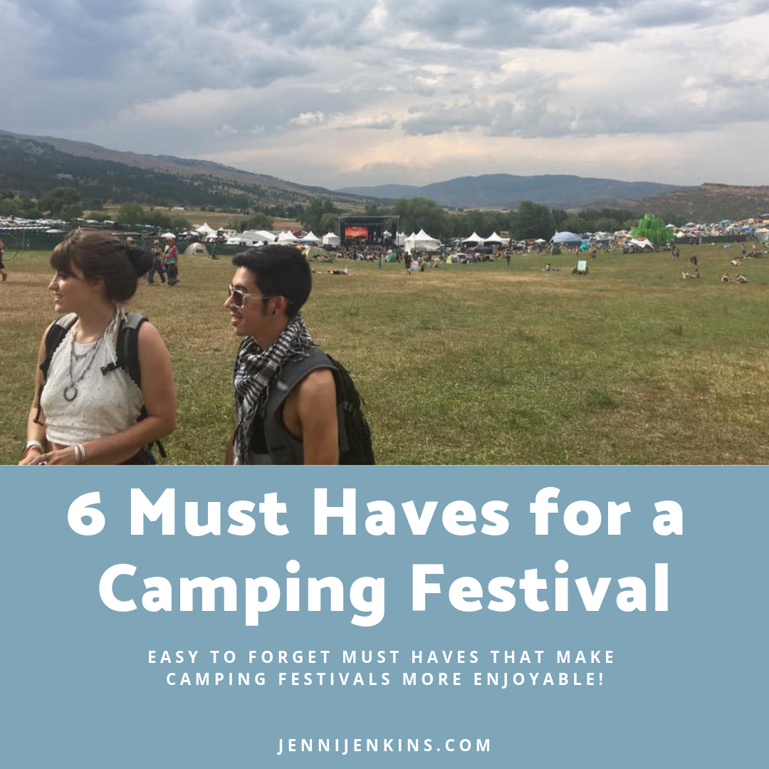 6 Must Haves for a Camping Festival